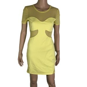 NEW TOPSHOP dress up mesh Bodycon dress 8
